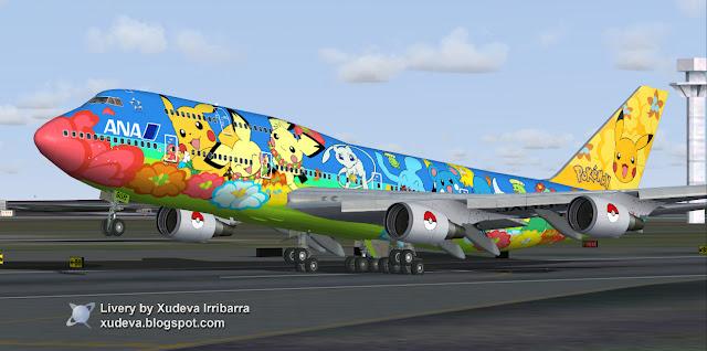 fs-freeware net - FSX Quantas and ANA Color Schemes Boeing
