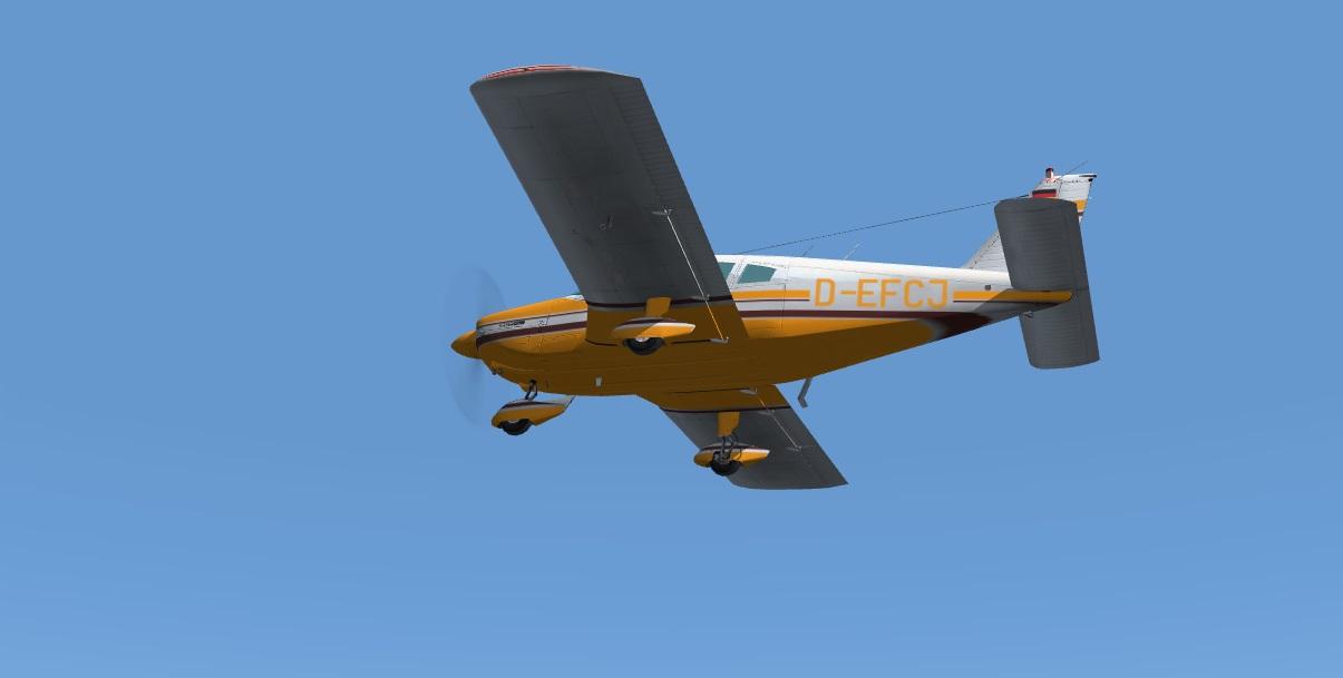fs-freeware net - FSX Carenado Piper Cherokee 180 D-EFCJ orange and
