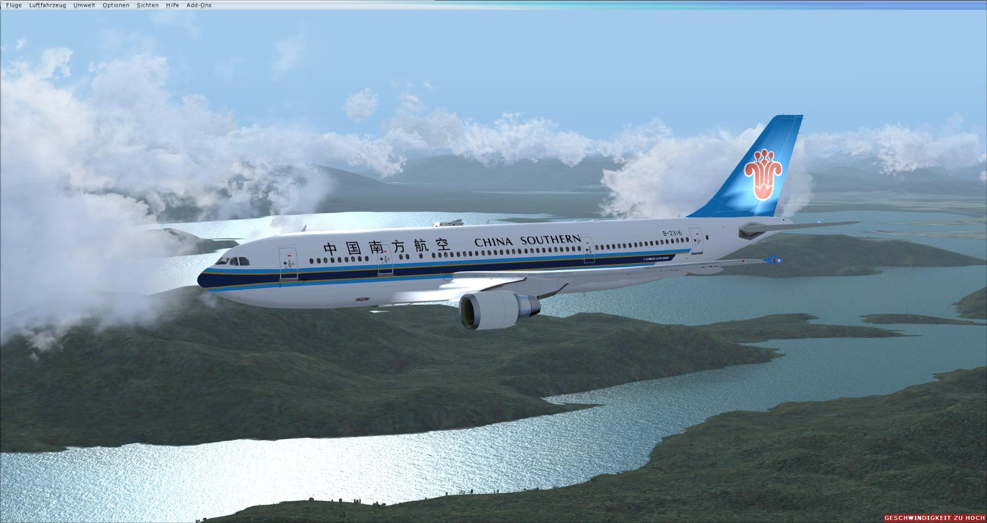 Fs Freeware Net Fsx Airbus A300 600r China Southern