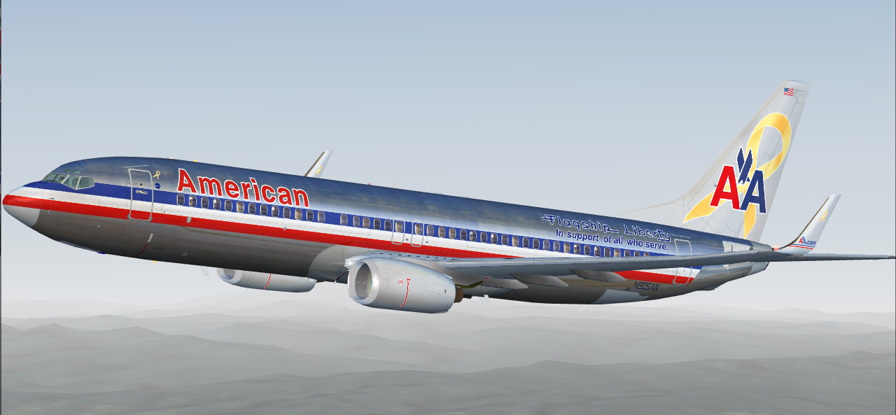 fs-freeware net - FSX Boeing 737-800 in American Airlines