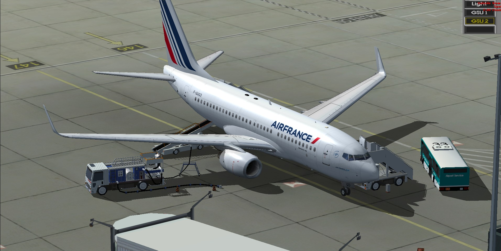 fs-freeware net - FSX Boeing 737-700 Air France Package with VC