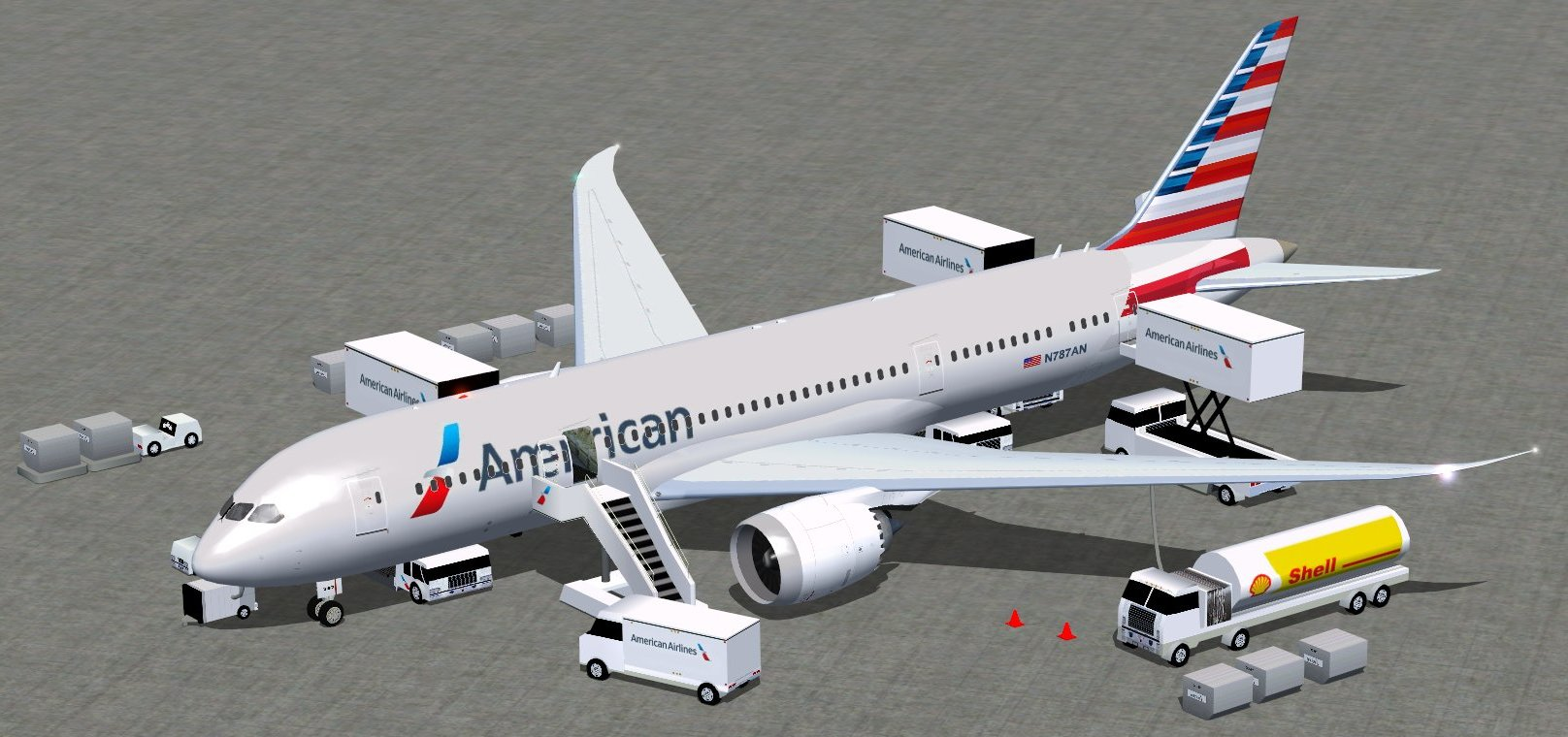 Fs Freeware Net Fsx American Airlines New Colors Boeing
