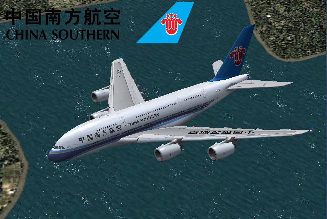 fs-freeware net - FSX Airbus A380-800 China Southern Airlines