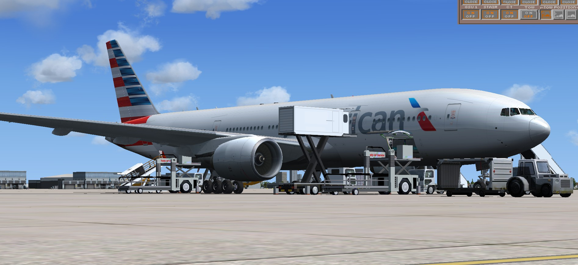 fs-freeware net - FSX American Airlines Boeing 777-200 new livery