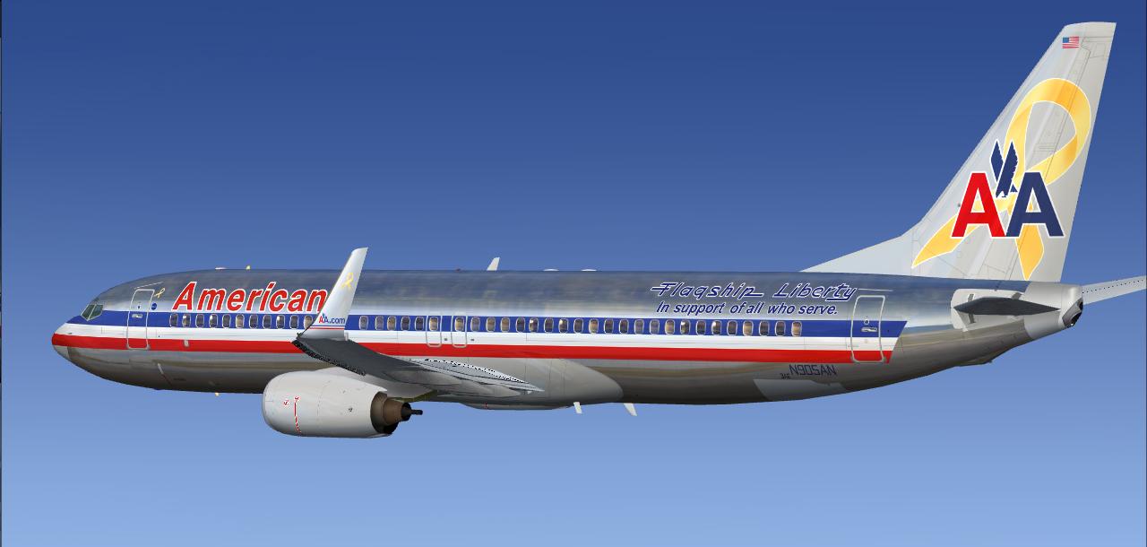 fs-freeware net - FSX Boeing 737-800 in American Airlines