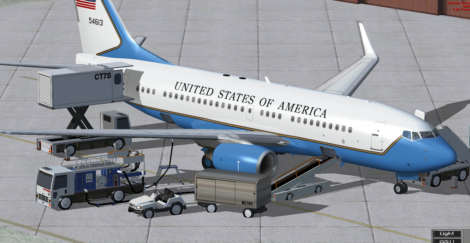 fs-freeware net - FSX TDS Boeing 737-700 U S A F 54613 Package with VC
