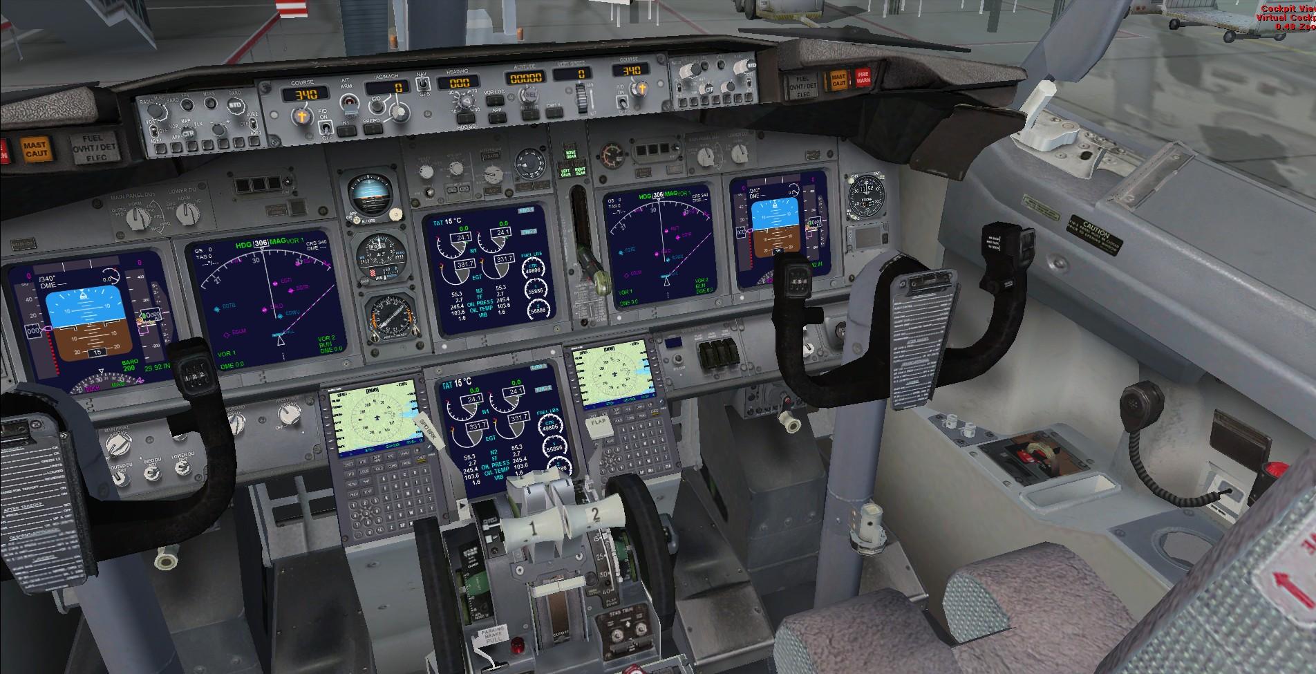 767 cockpit poster