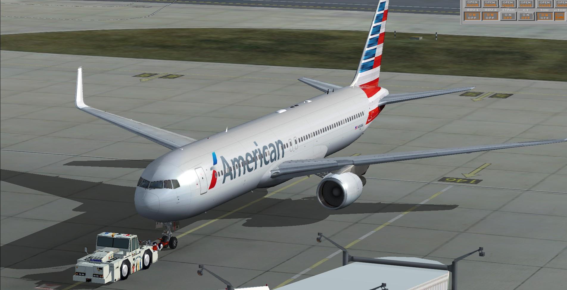 fs-freeware net - FSX Boeing 767-300 American Airlines NC