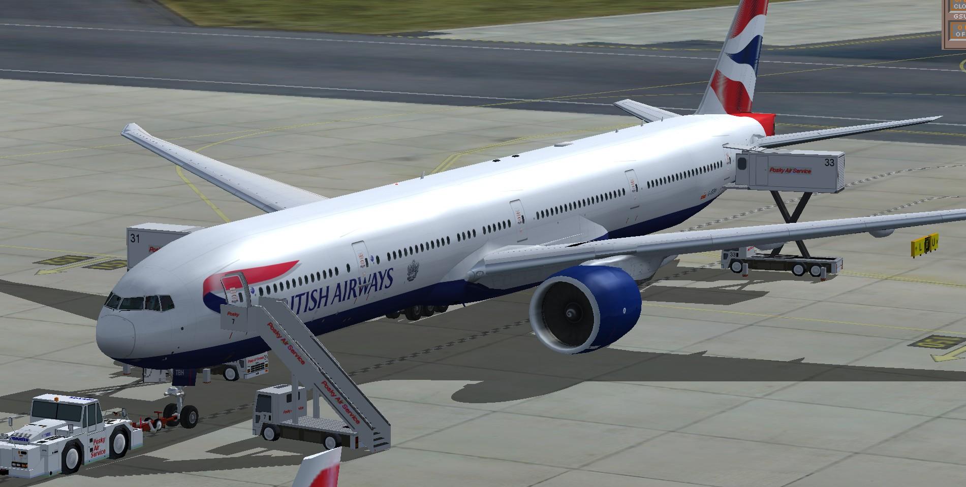fs-freeware net - FSX Boeing 777-300ER British Airways G-STBH