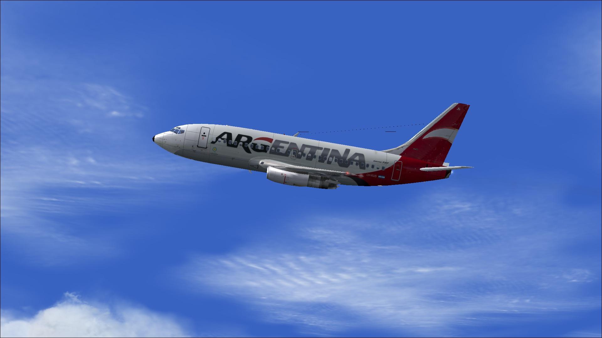 fs-freeware net - FS2004 Boeing 737-200, ARG Lineas Privadas