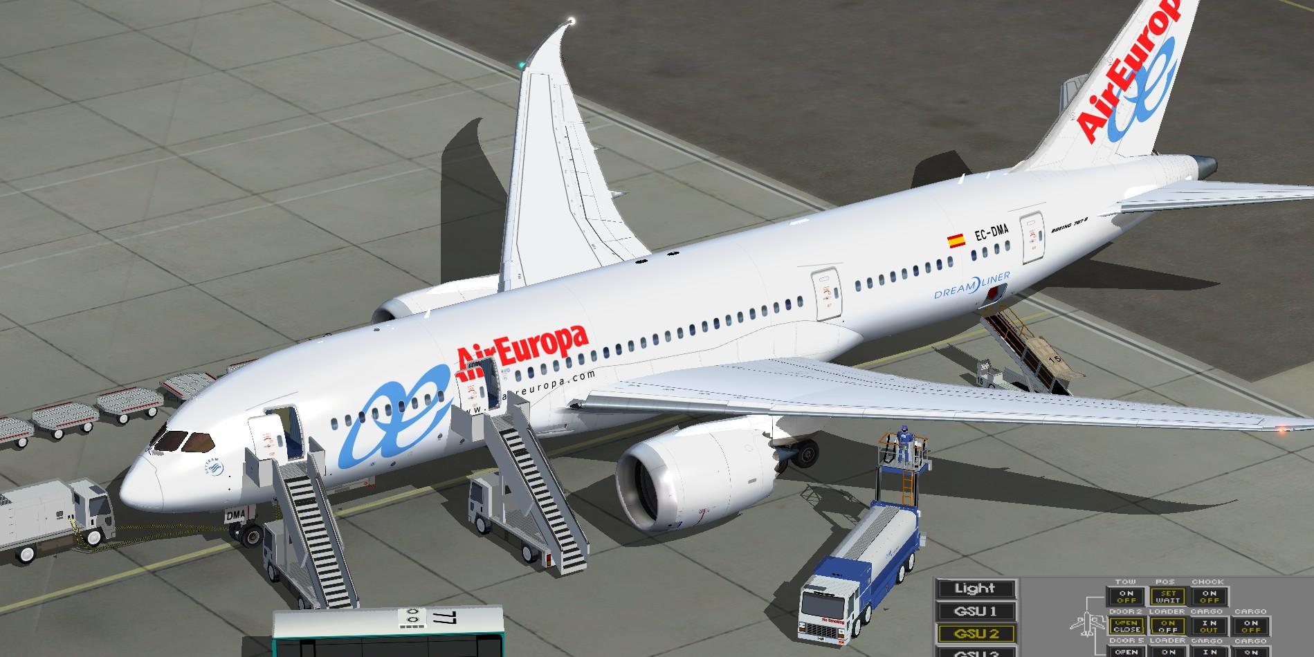 Fs fsx boeing 787 8 air europa airlines for Interior 787 air europa