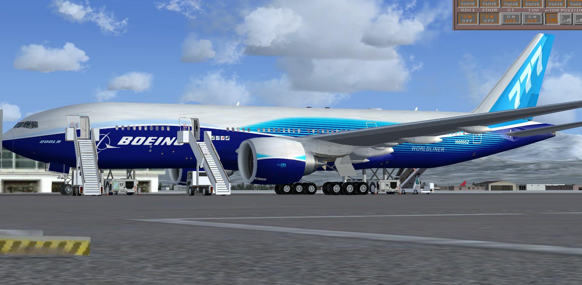 fs-freeware net - FSX Boeing 777-200LR Worldliner Livery