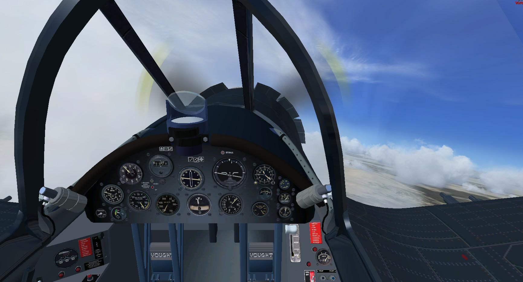 fs-freeware net - FSX Acceleration Chance Vought F4U-7 Corsair