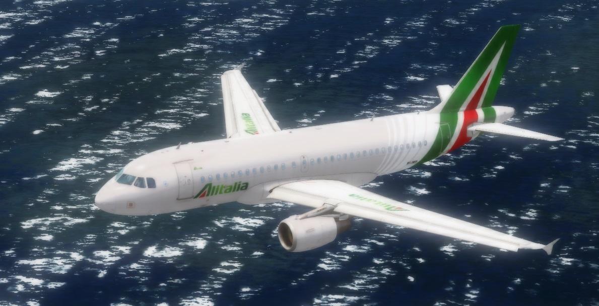 fs-freeware net - Aerosoft Airbus A319 CFM EI-IMS Alitalia-Etihad