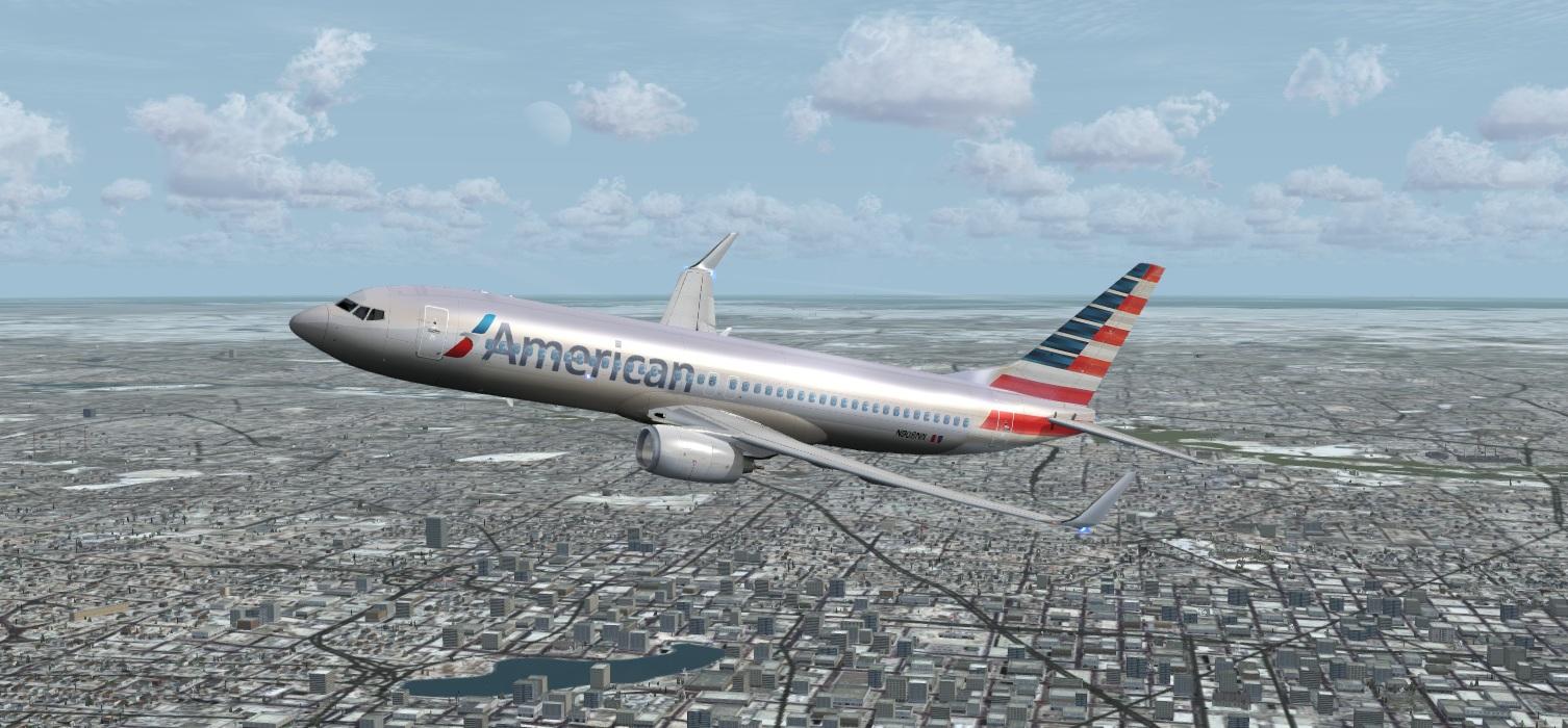 fs-freeware net - FSX Boeing 737-800 American New Livery