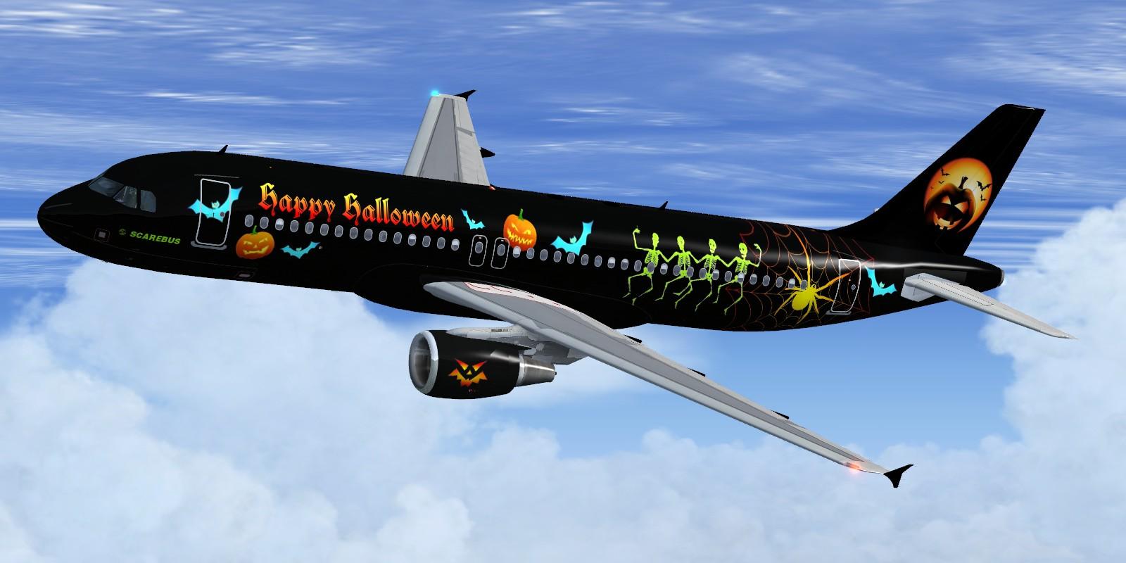 fs-freeware net - FSX Project Airbus A320 Halloween (fictional)