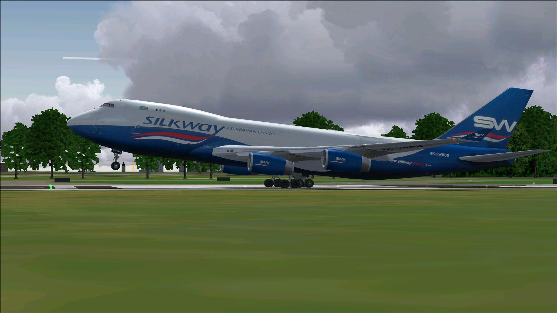 fs-freeware net - FSX Boeing 747-400 Cargo Silkway Azerbaijan with VC