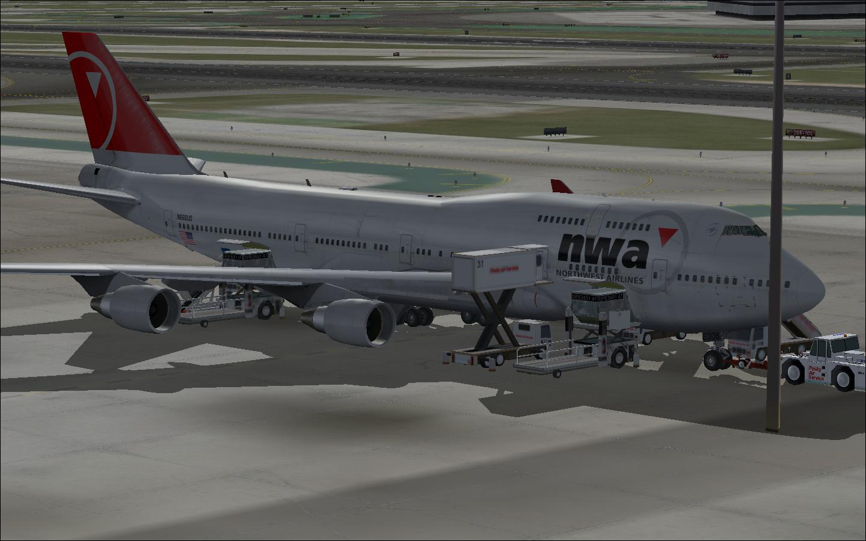 fs-freeware net - FSX Northwest Boeing 747-400 with VC