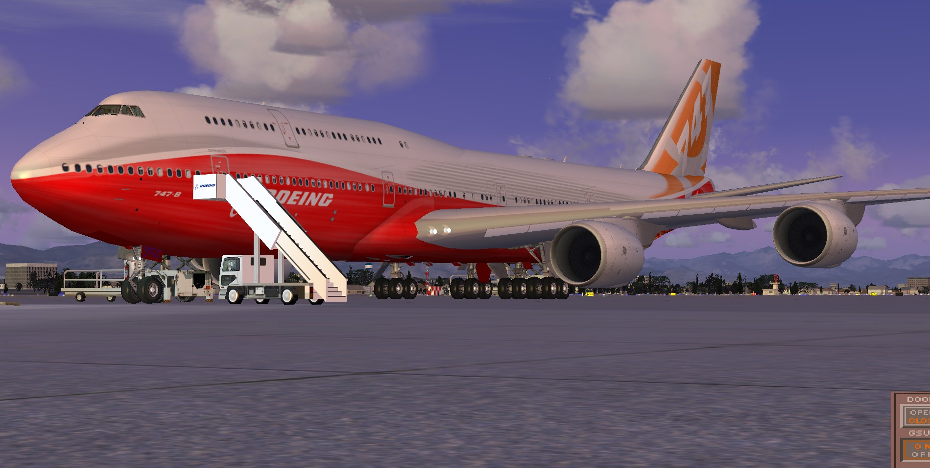 fs-freeware net - FSX Boeing 747-800i Roll Out Livery
