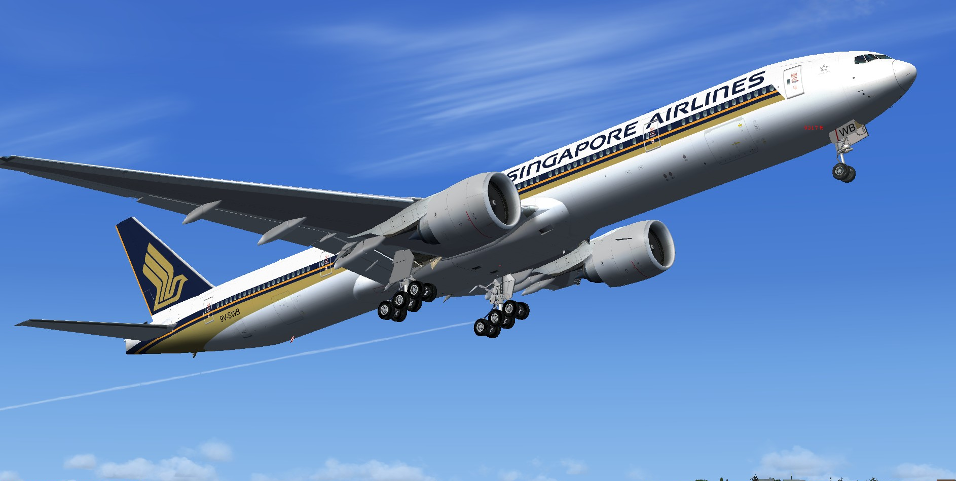 fs-freeware net - FSX Boeing 777-300ER Singapore Airlines