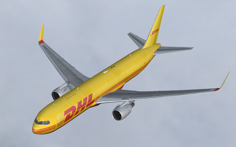 fs-freeware net - FSX DHL Air Boeing 767-3JHF Package with VC