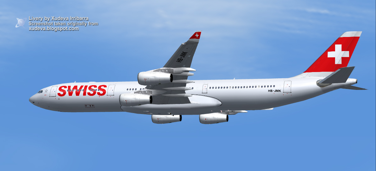 fs-freeware net - FSX Airbus A340-313X Swiss International