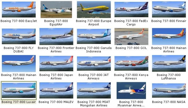 fs-freeware net - FSX Boeing 737-800 - 151 Liveries Collection Pack