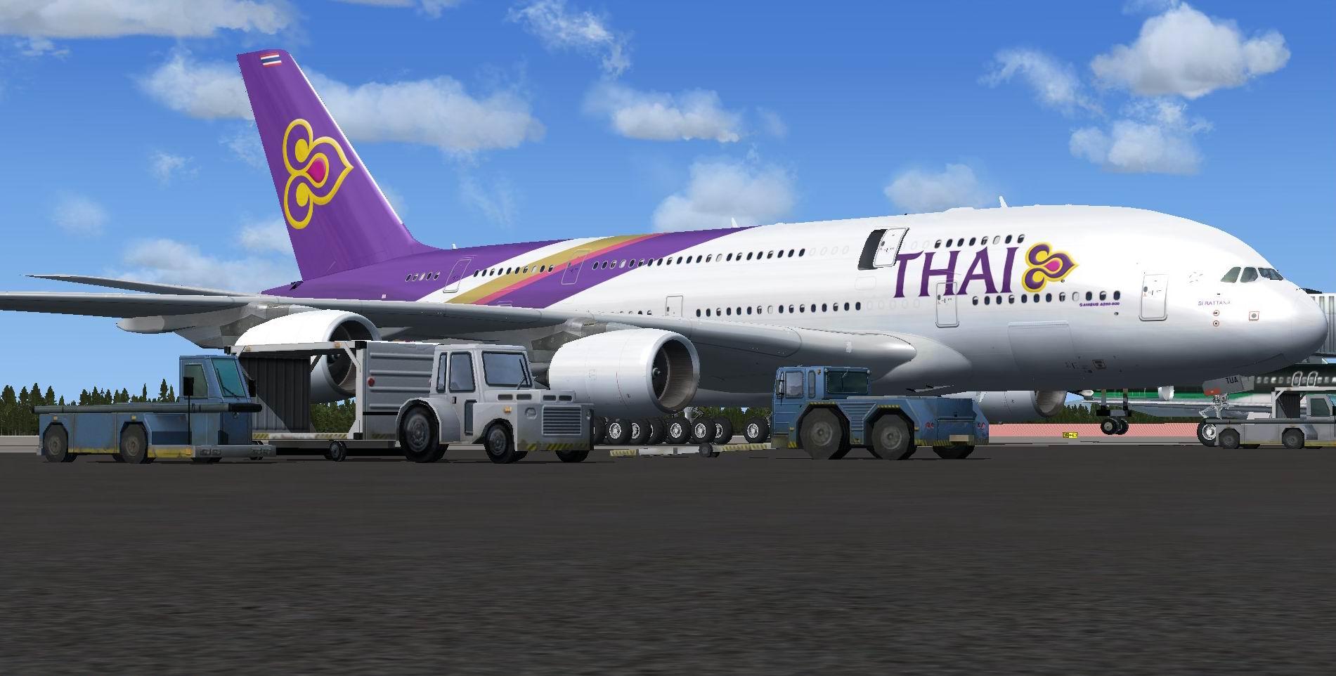 fs-freeware net - FSX Airbus A380-841 Thai