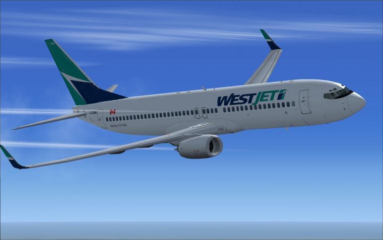 fs-freeware net - FSX Westjet Boeing 737-800 Package with VC