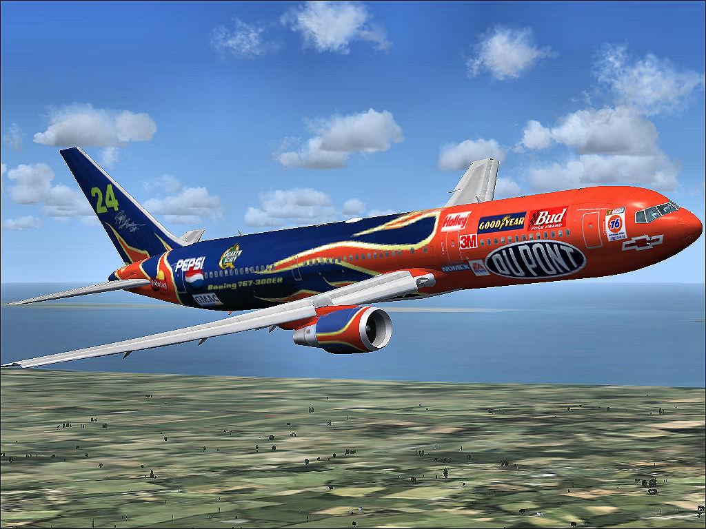 fs-freeware net - Jeff Gordon Boeing for Level D 767-300ER
